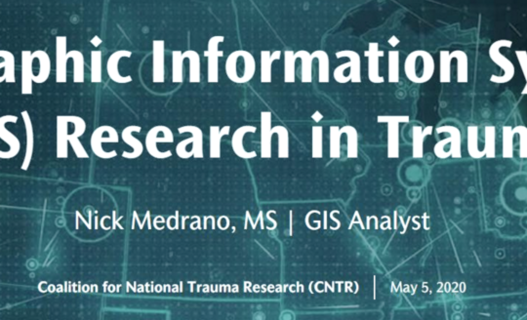 GIS Applications for Trauma Research